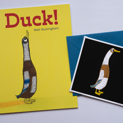 Duck! by Matt Buckingham book and card gift set