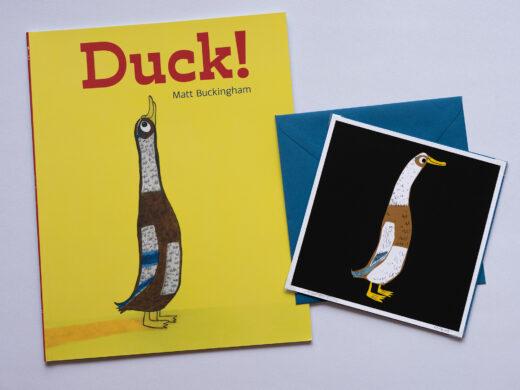 Duck! by Matt Buckingham book and card gift set