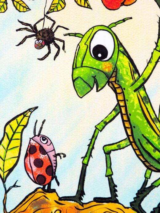 Grasshopper Print by Matt Buckingham