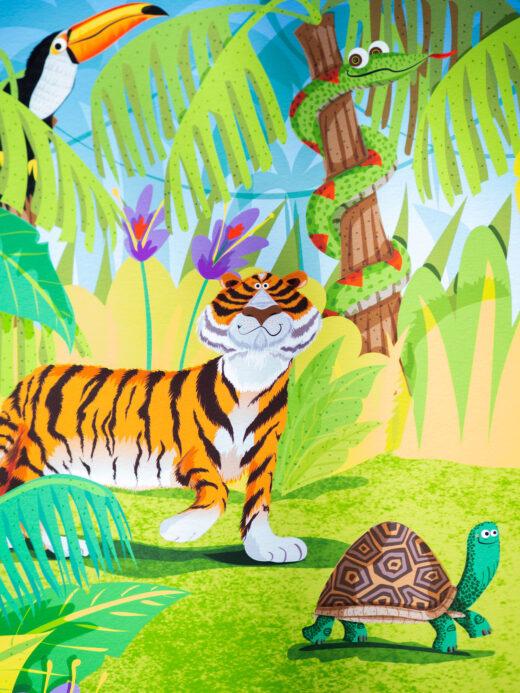 Jungle artist print by Matt Buckingham