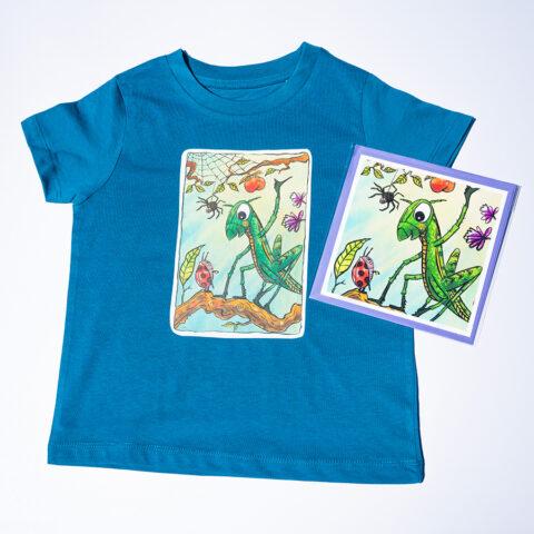 grasshopper organic children's t-shirt design