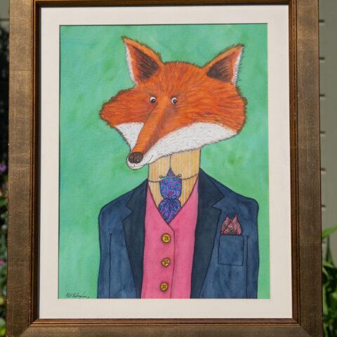 Civilised Beasts -Fox original art by Matt Buckingham