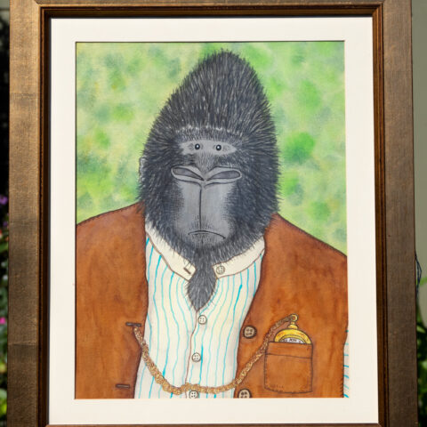 Civilised Beasts - Gorilla original art by Matt Buckingham