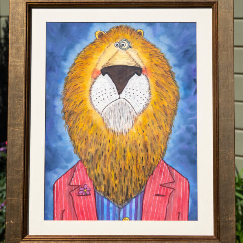 Civilised Beasts - Lion original art by Matt Buckingham
