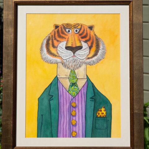 Civilised Beasts - Tiger original art by Matt Buckingham