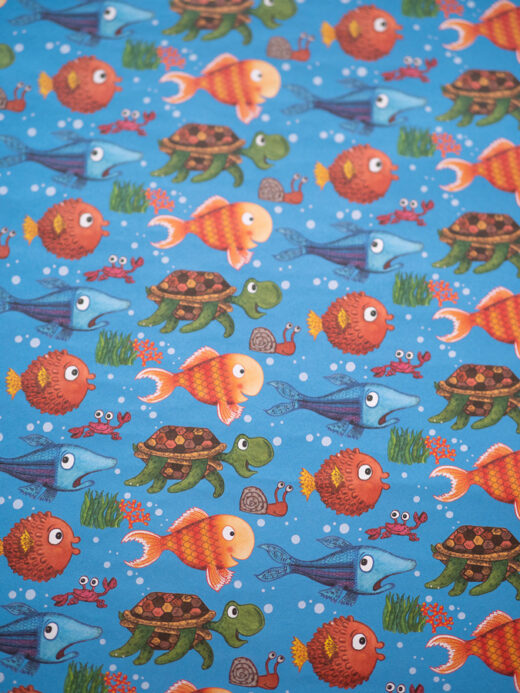Luxury fish wrapping paper
