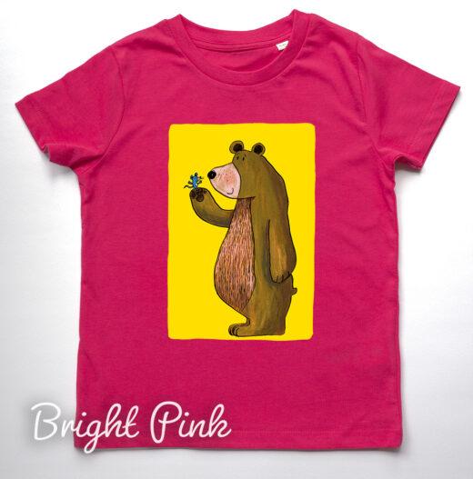 Bear and Mouse T-Shirt by Matt Buckingham Bright Pink