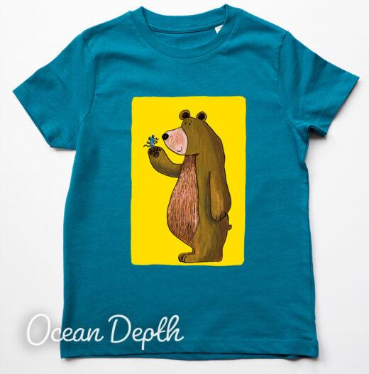 Bear and Mouse T-Shirt by Matt Buckingham Ocean Depth