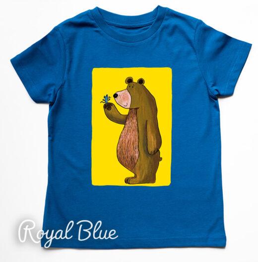 Bear and Mouse T-Shirt by Matt Buckingham Royal Blue