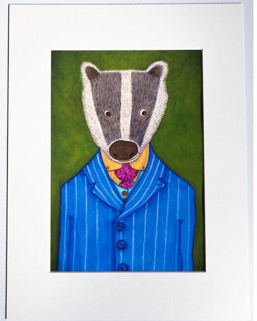 Badger artist print by Matt Buckingham