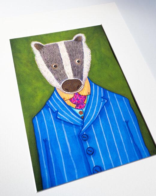 Badger Print by Matt Buckingham