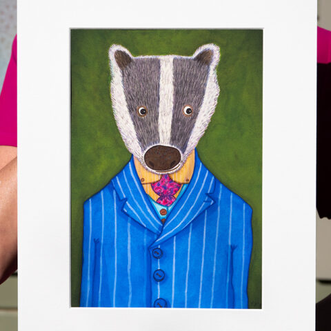 Dashing Badger artist print by Matt Buckingham